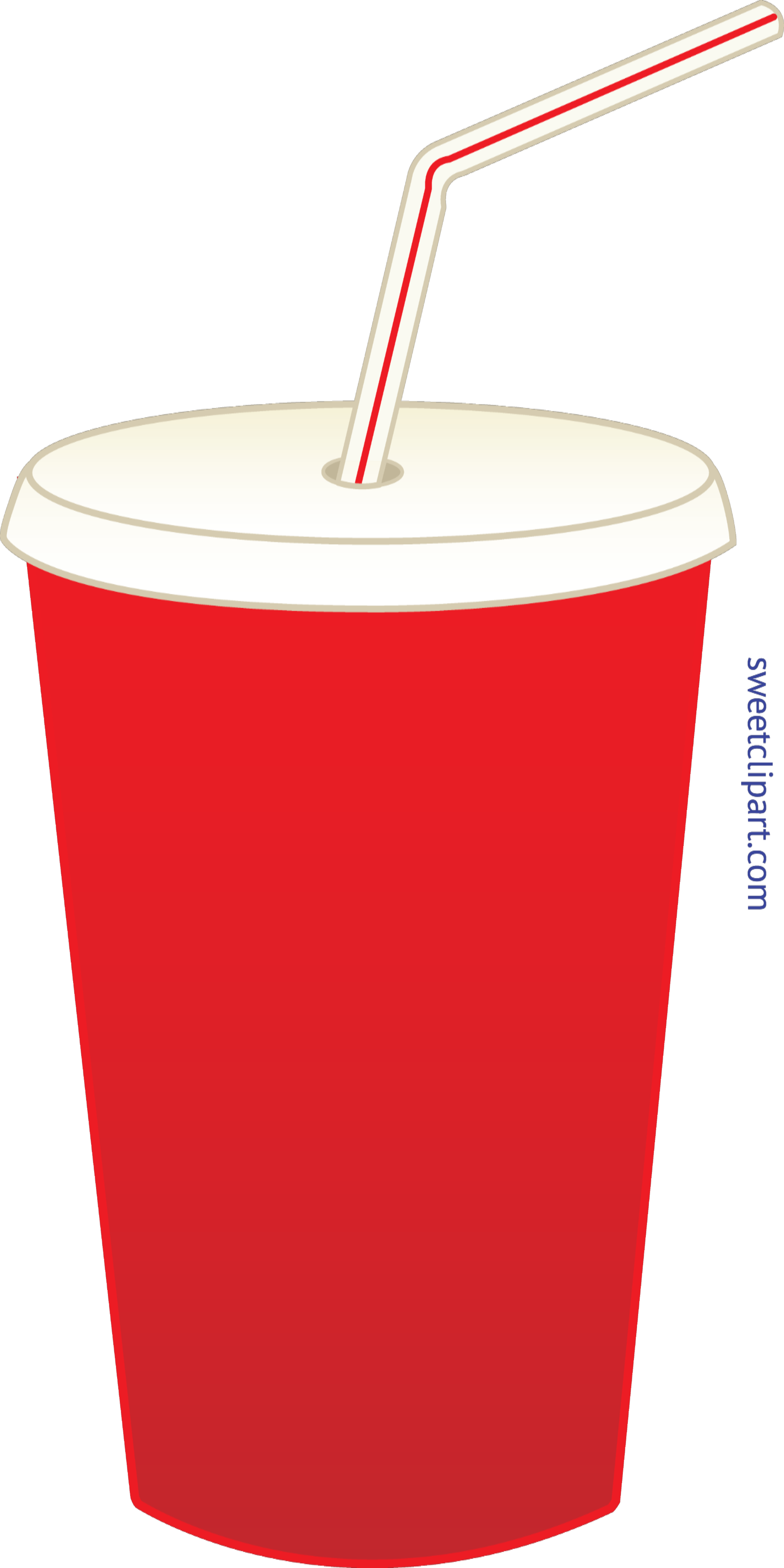 Soda pop in cup. Clipart science red