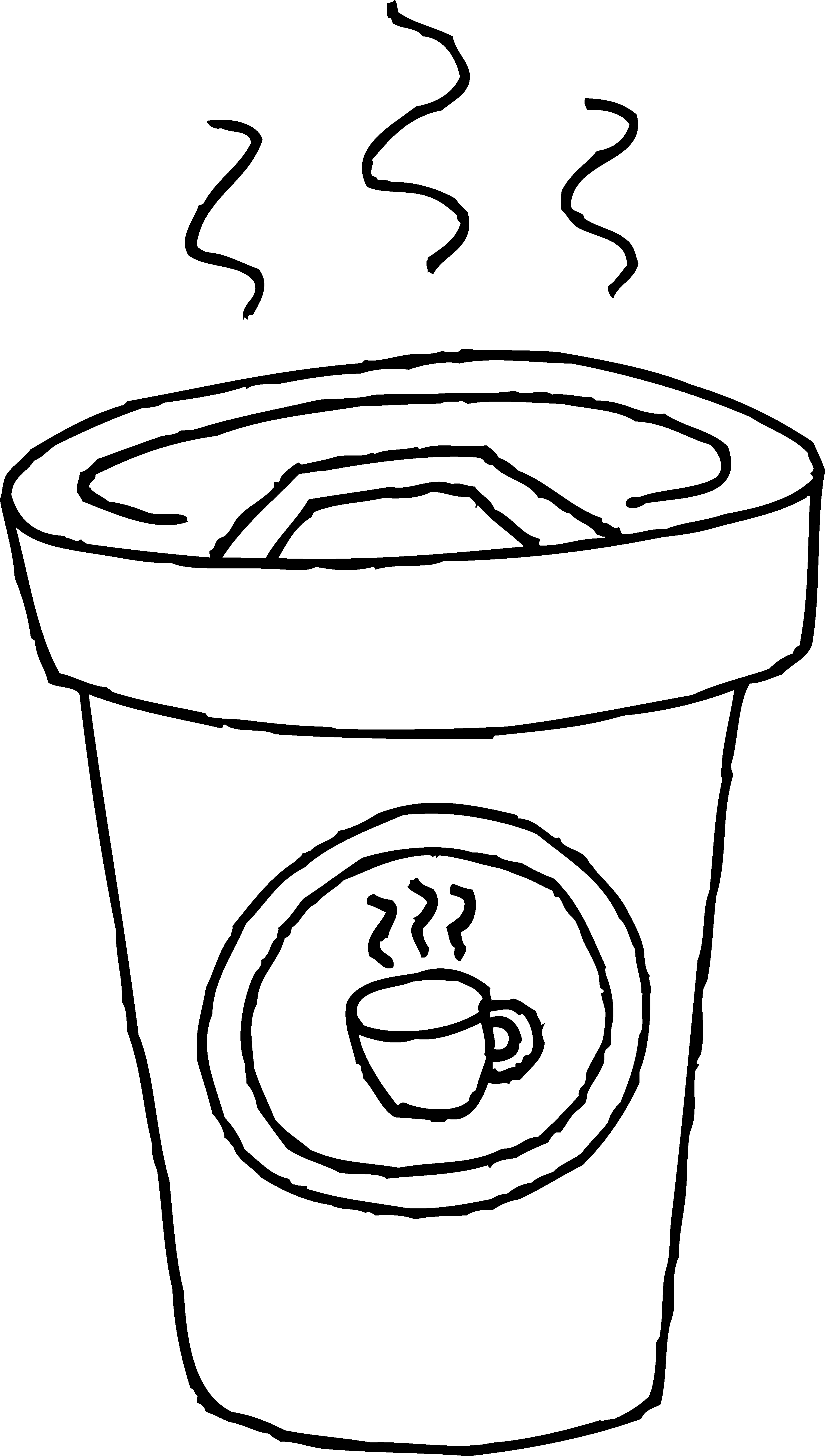 Coffee clipart line art. Cup of coloring page