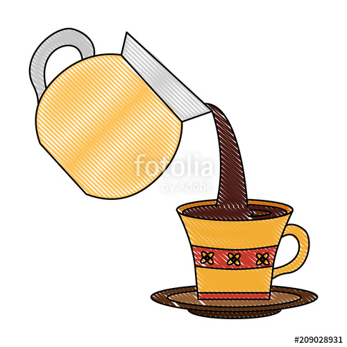 Clipart cup coffee group. Maker pouring into with