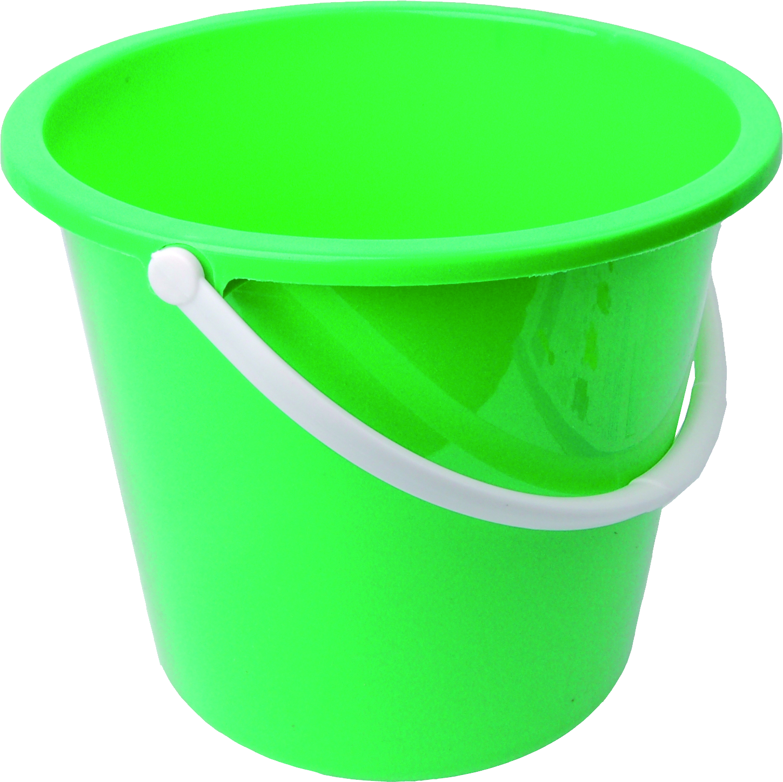 Mug clipart bucket. Green plastic png image