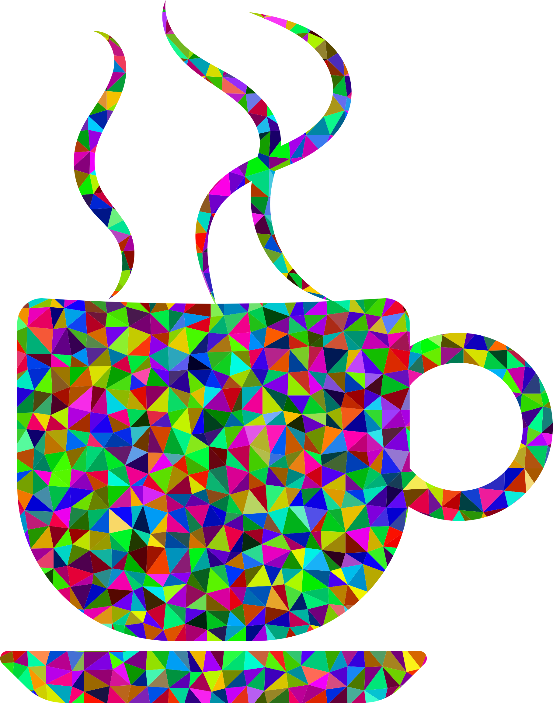 Coffee clipart refreshment. Prismatic low poly cup