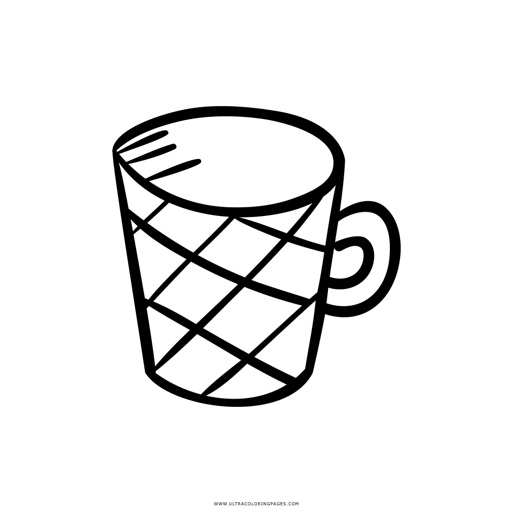 Cup clipart colouring page. Tea coloring free pages