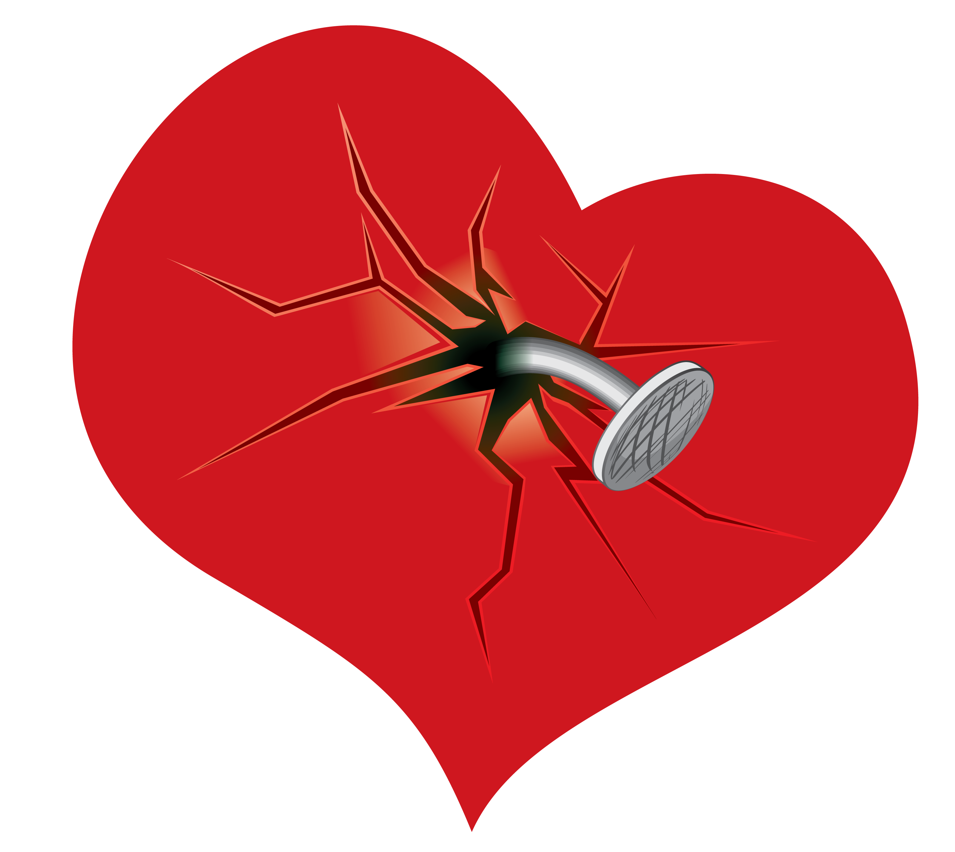 Hurt clipart heart. Broken clip art cracked