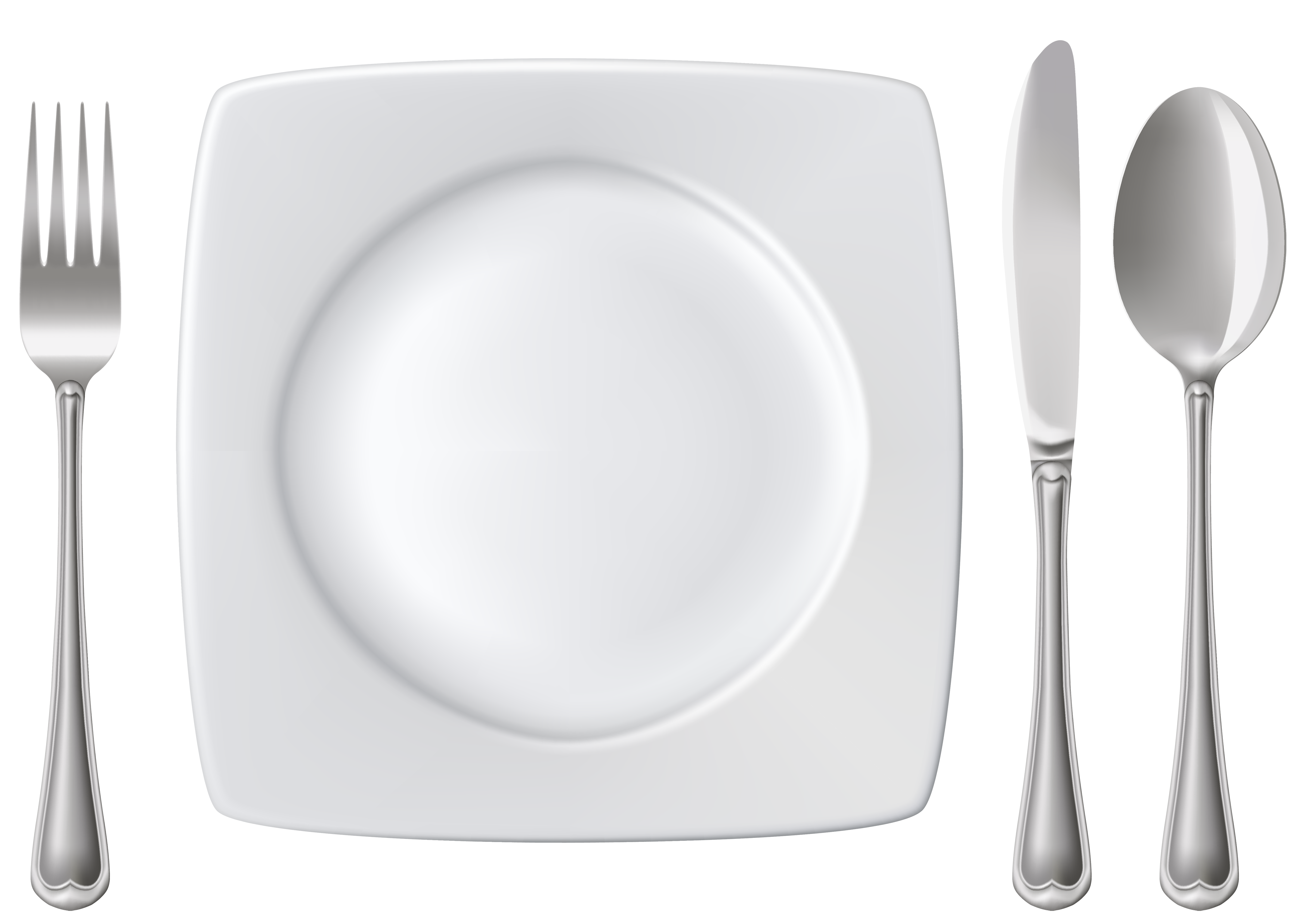 Plate clipart stack plate. Spoon knife and fork