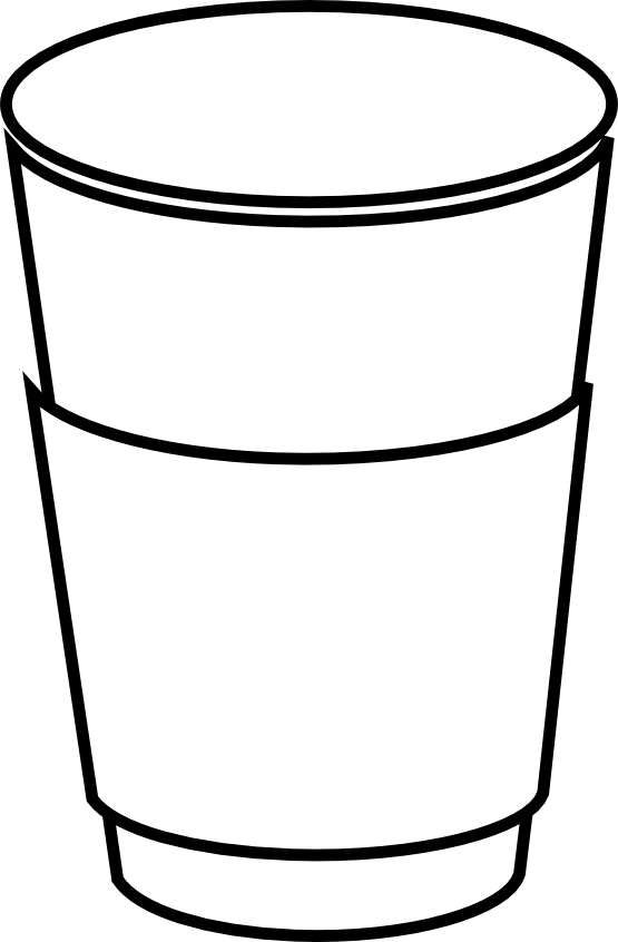 Plastic cup free download. Mug clipart mug outline