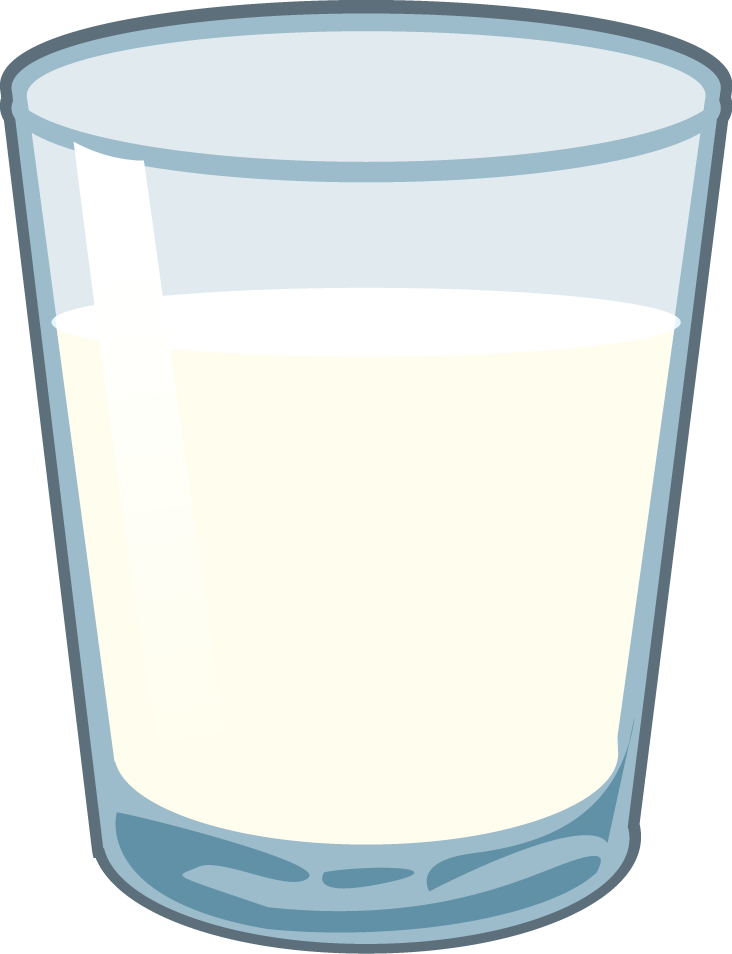 glasses clipart milk