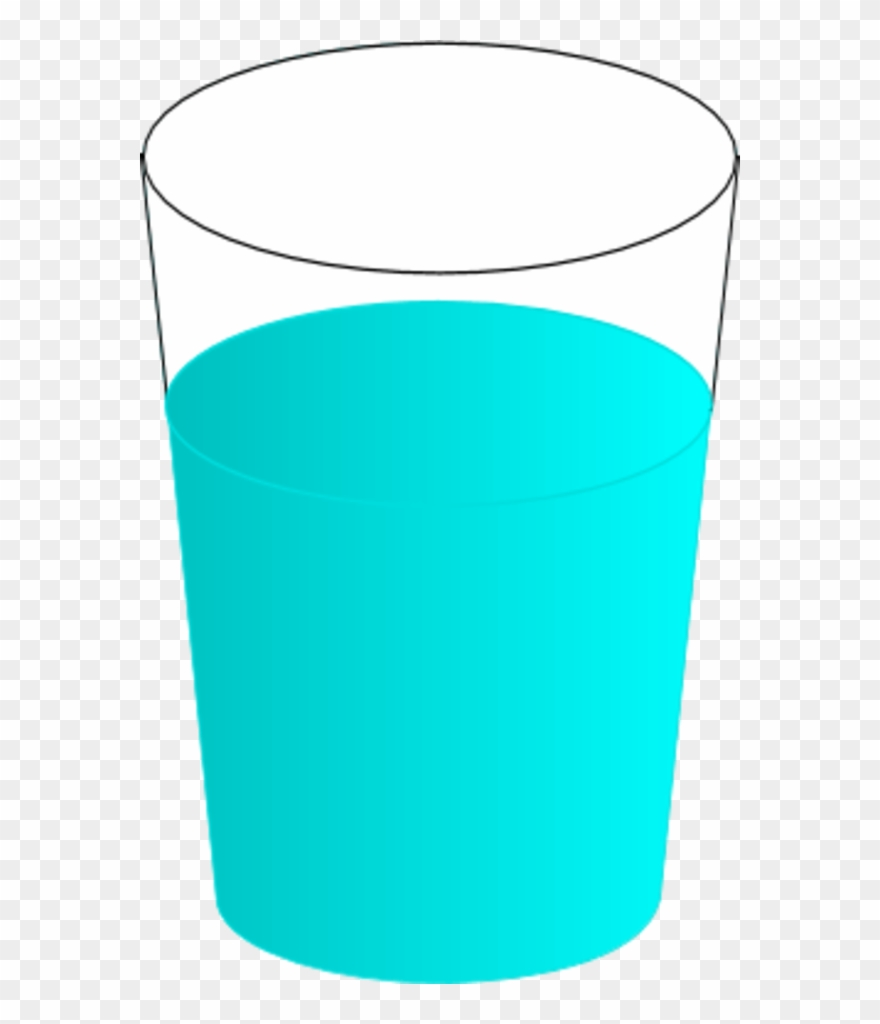 Glass of tumbler cup. Mug clipart water