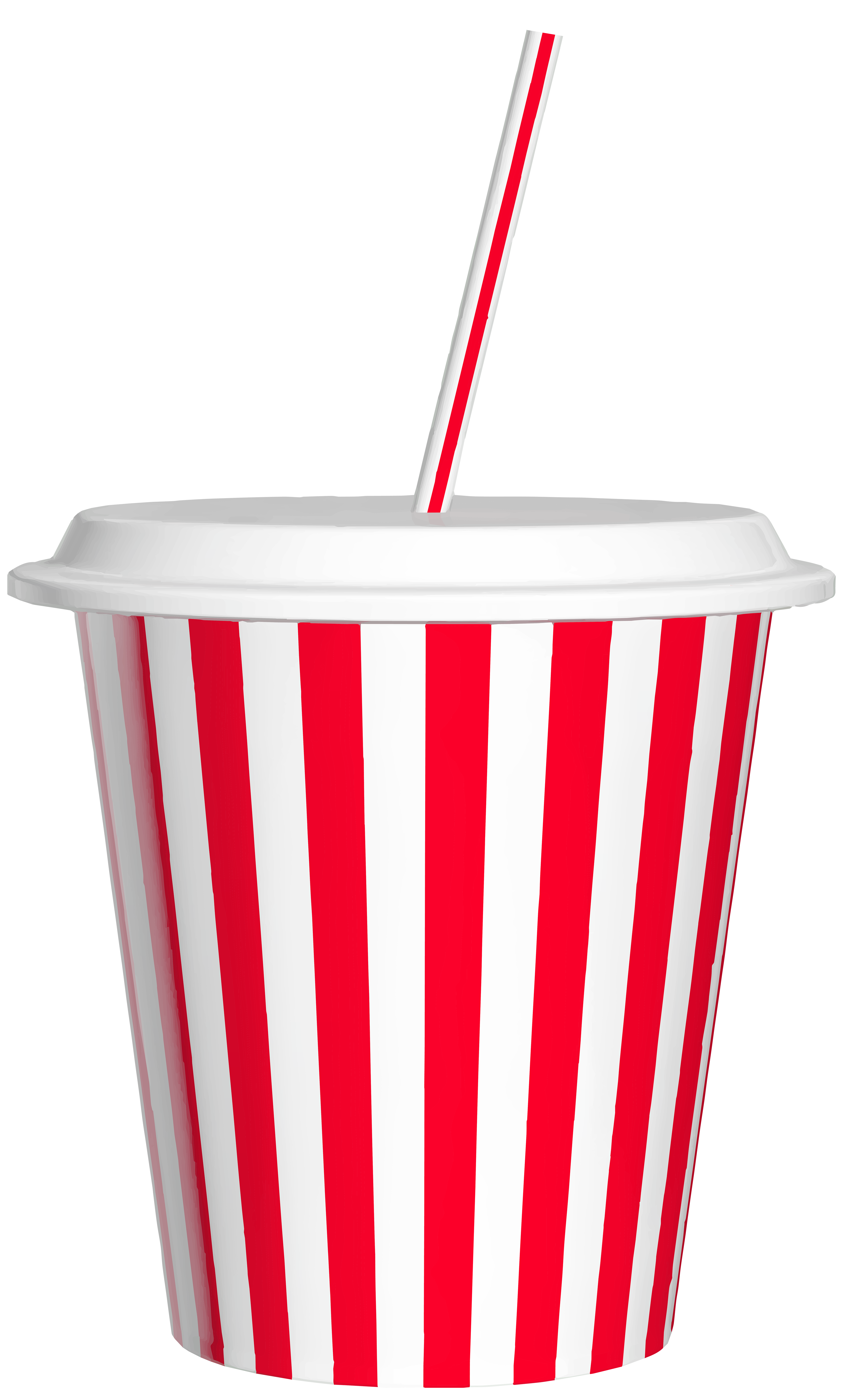 Cups clipart plastics. Drink cup with straw