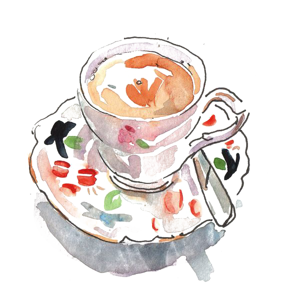 Cup clipart english teacup. Black tea cappuccino coffee