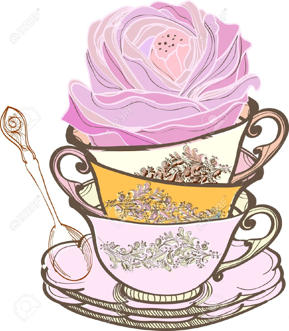 images clip art. Cup clipart tea party