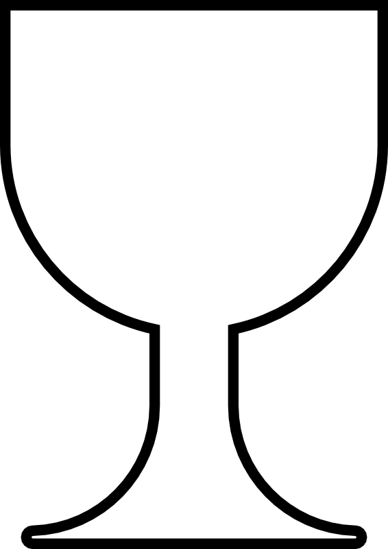 Challice pattern the cup. Communion clipart chalice