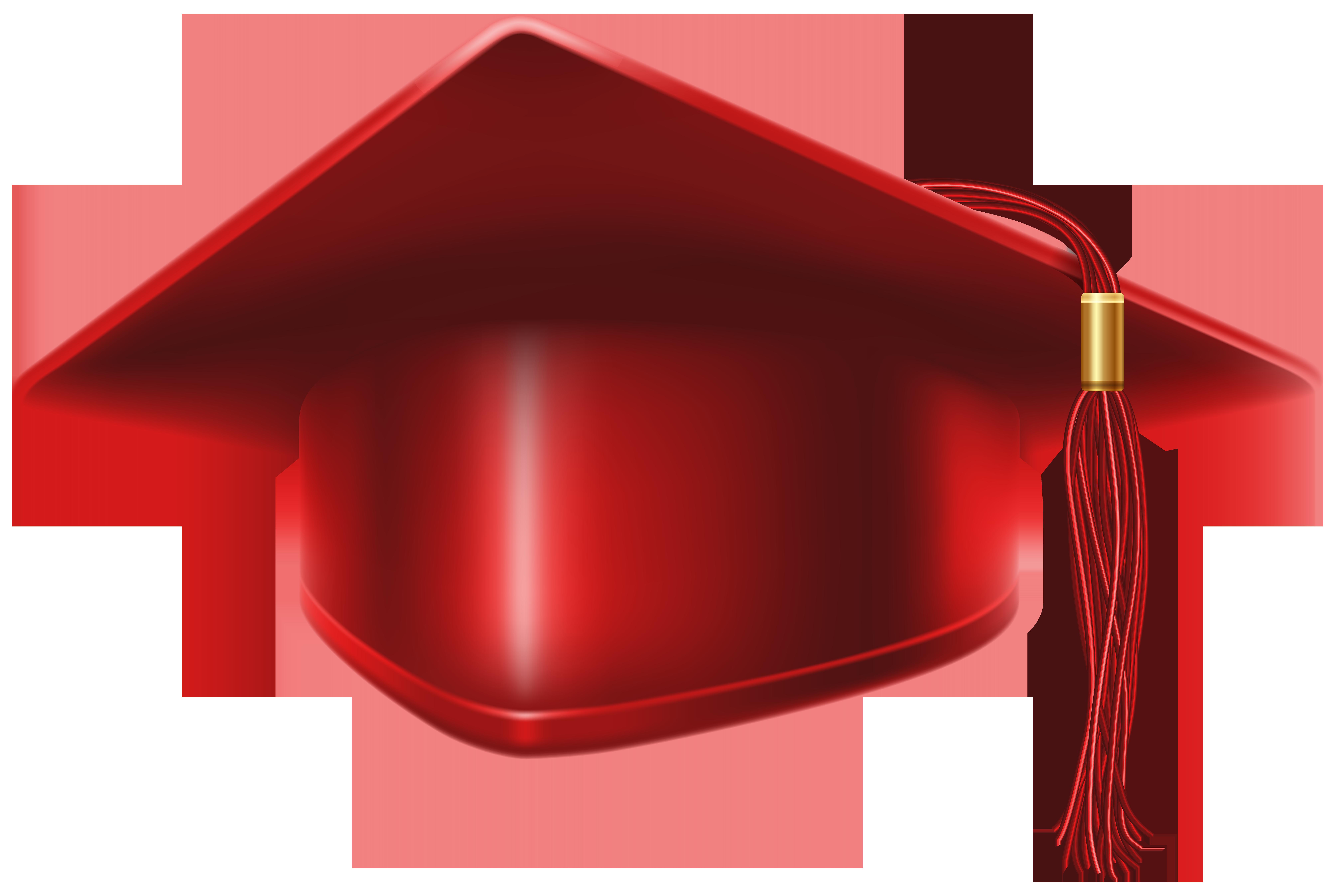 Graduation clipart maroon. Red cap png clip
