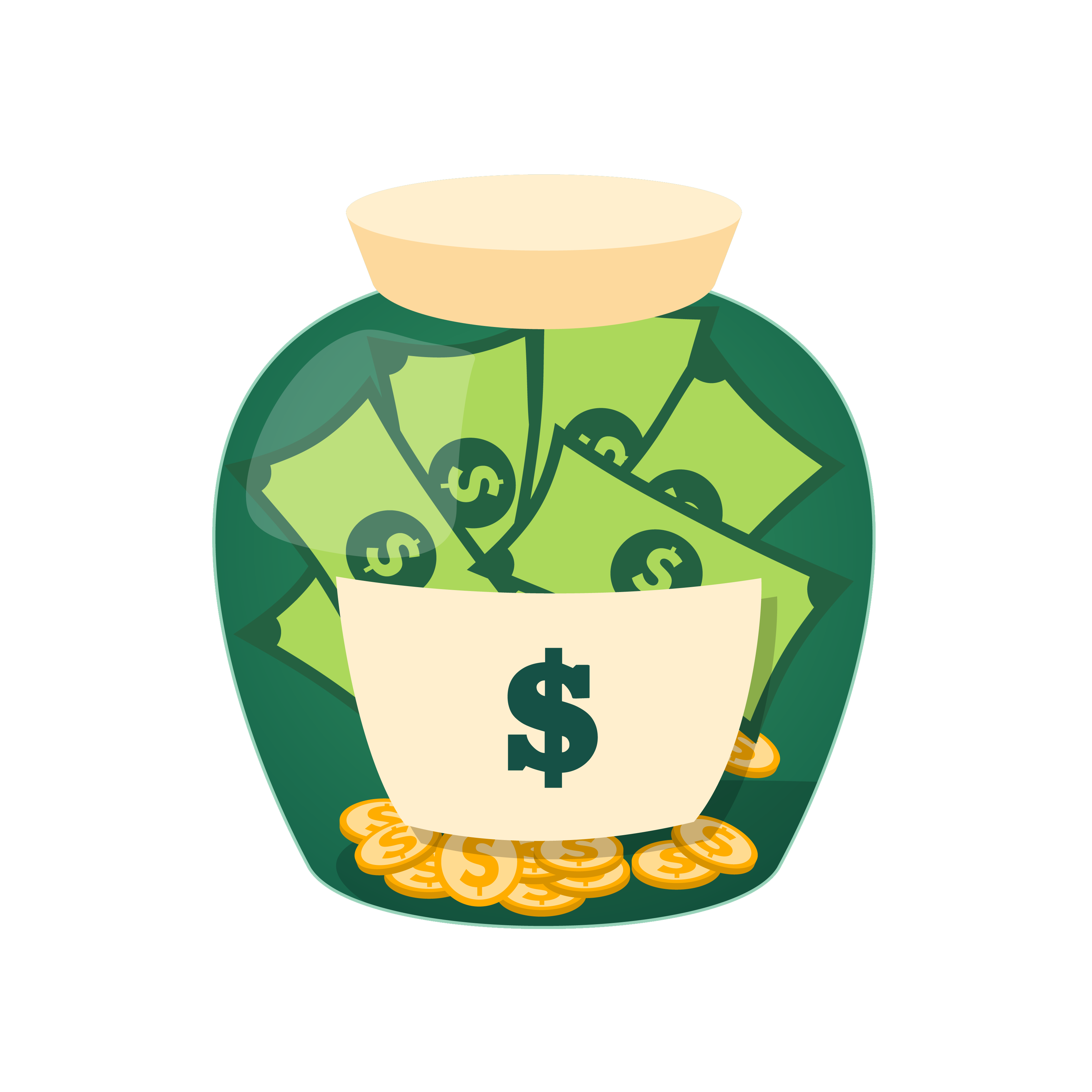 Clipart cup green coffee. Money jar saving clip