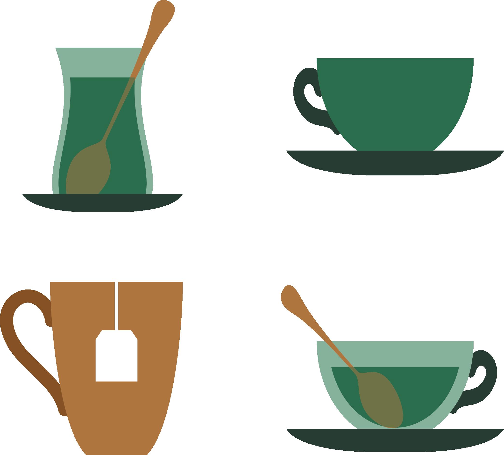 Tea teapot icon various. Clipart cup green coffee