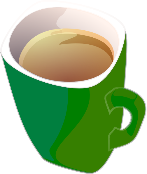 Clipart cup green coffee. Purple tea mug clip
