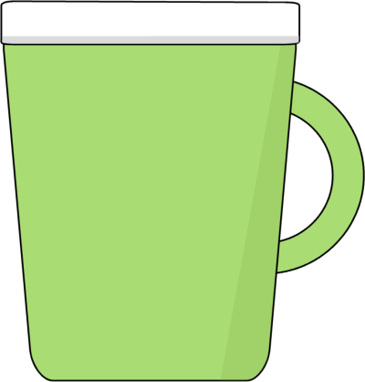 Panda free images . Clipart cup green coffee