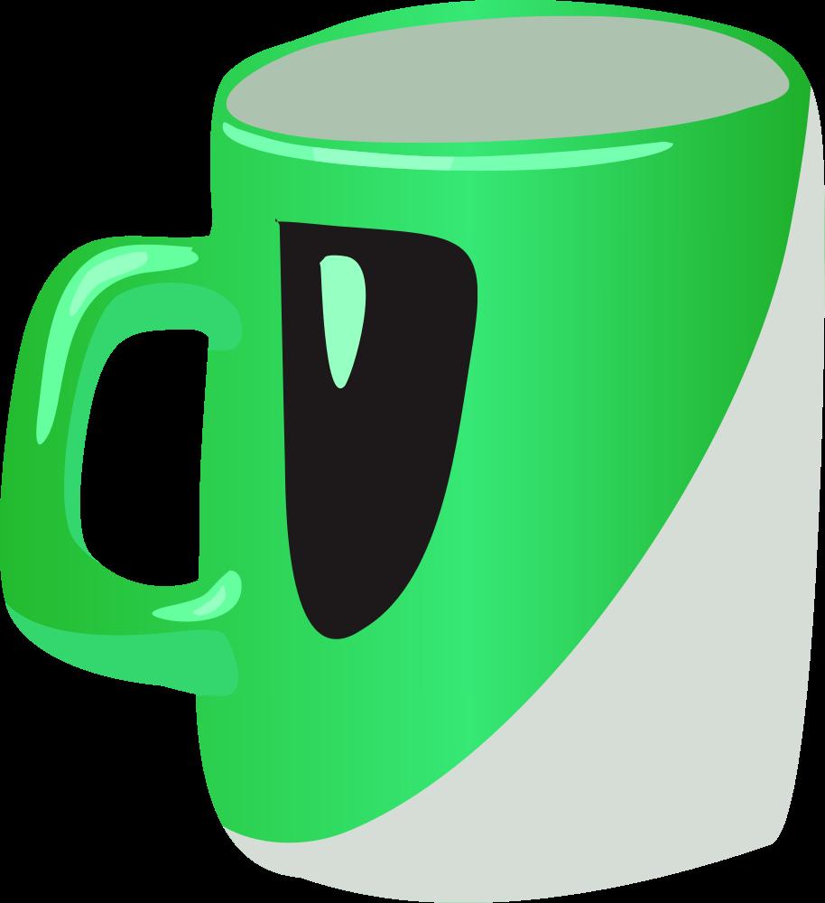 Cup green mug