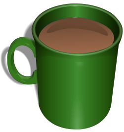 Alatan dapur mugs . Mug clipart green coffee