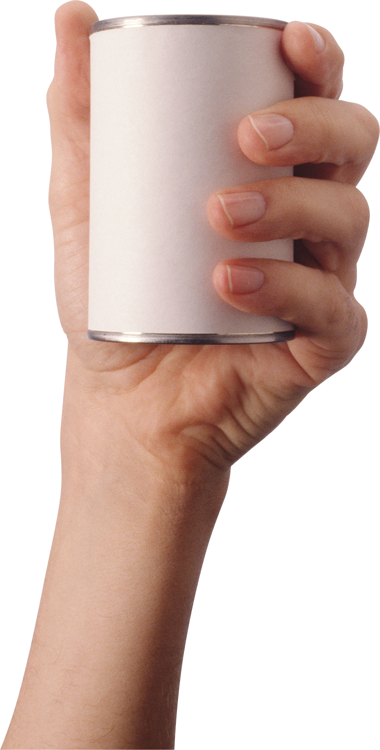 Hand holding food can. Cup clipart hands