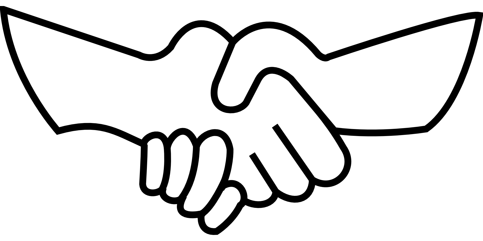 Holding hands praying clip. Handshake clipart black and white