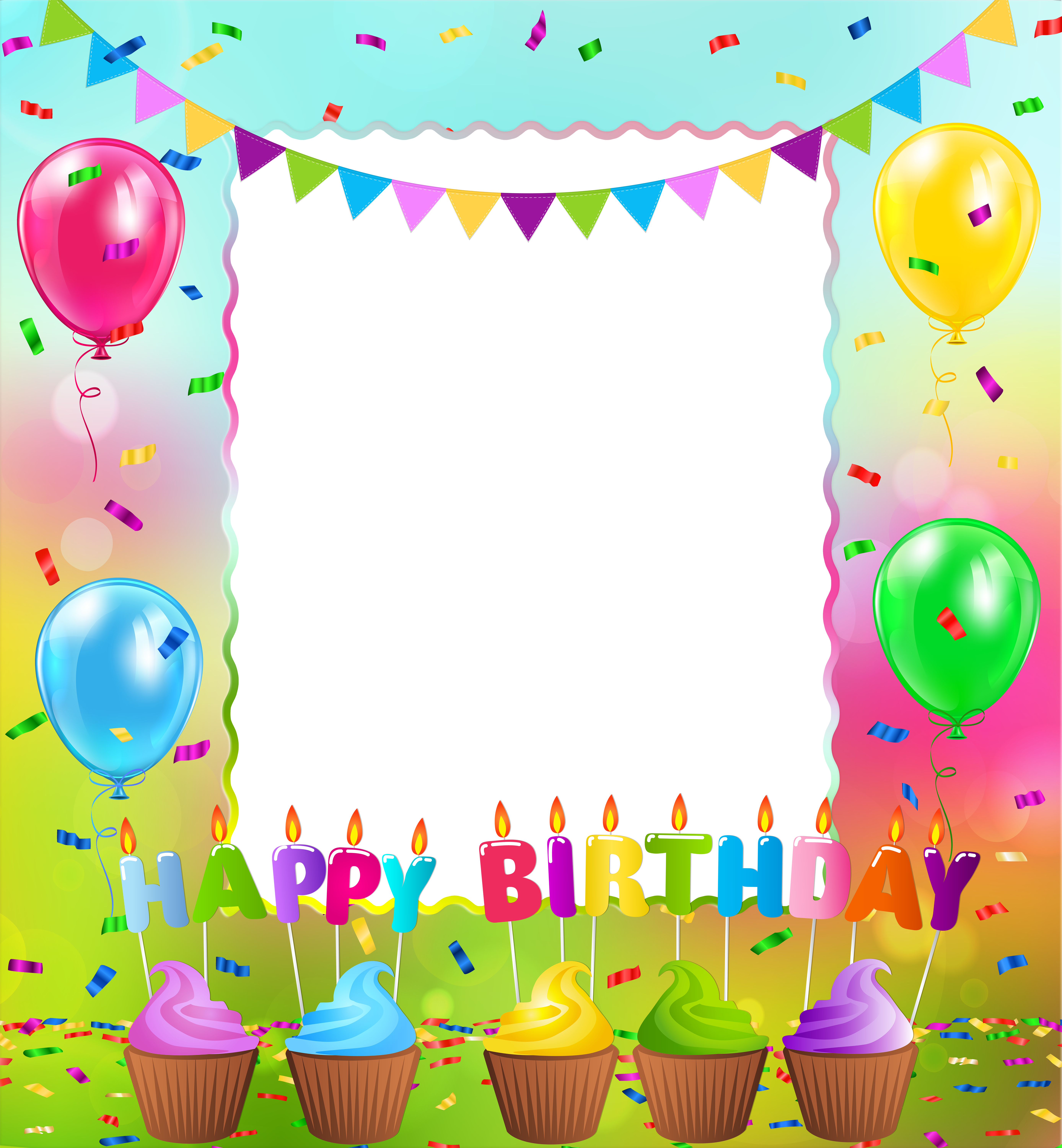 Birthday frame png. Happy gallery yopriceville high