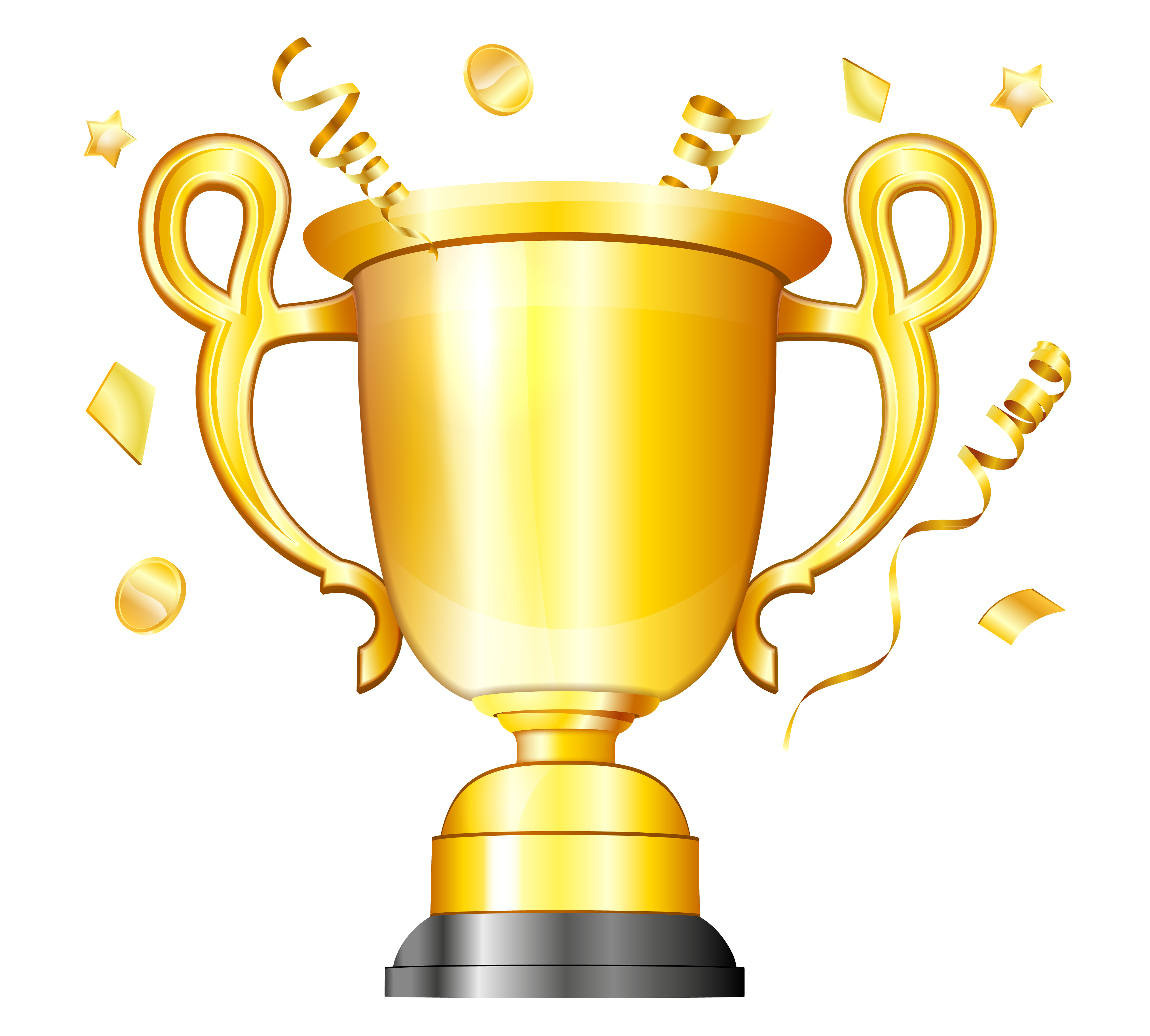 Congratulations clipart manager. Gold cup transparent png