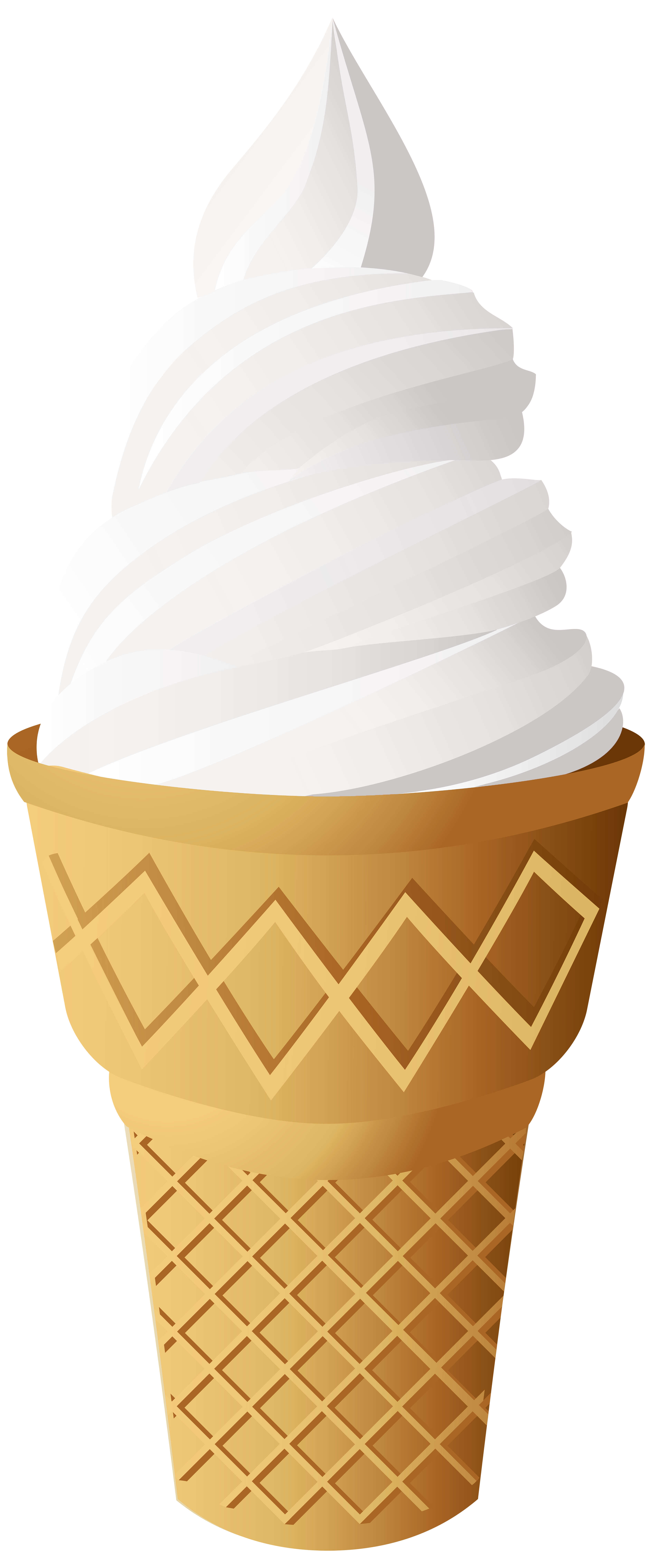 Vanilla ice cream cone. Milkshake clipart animated