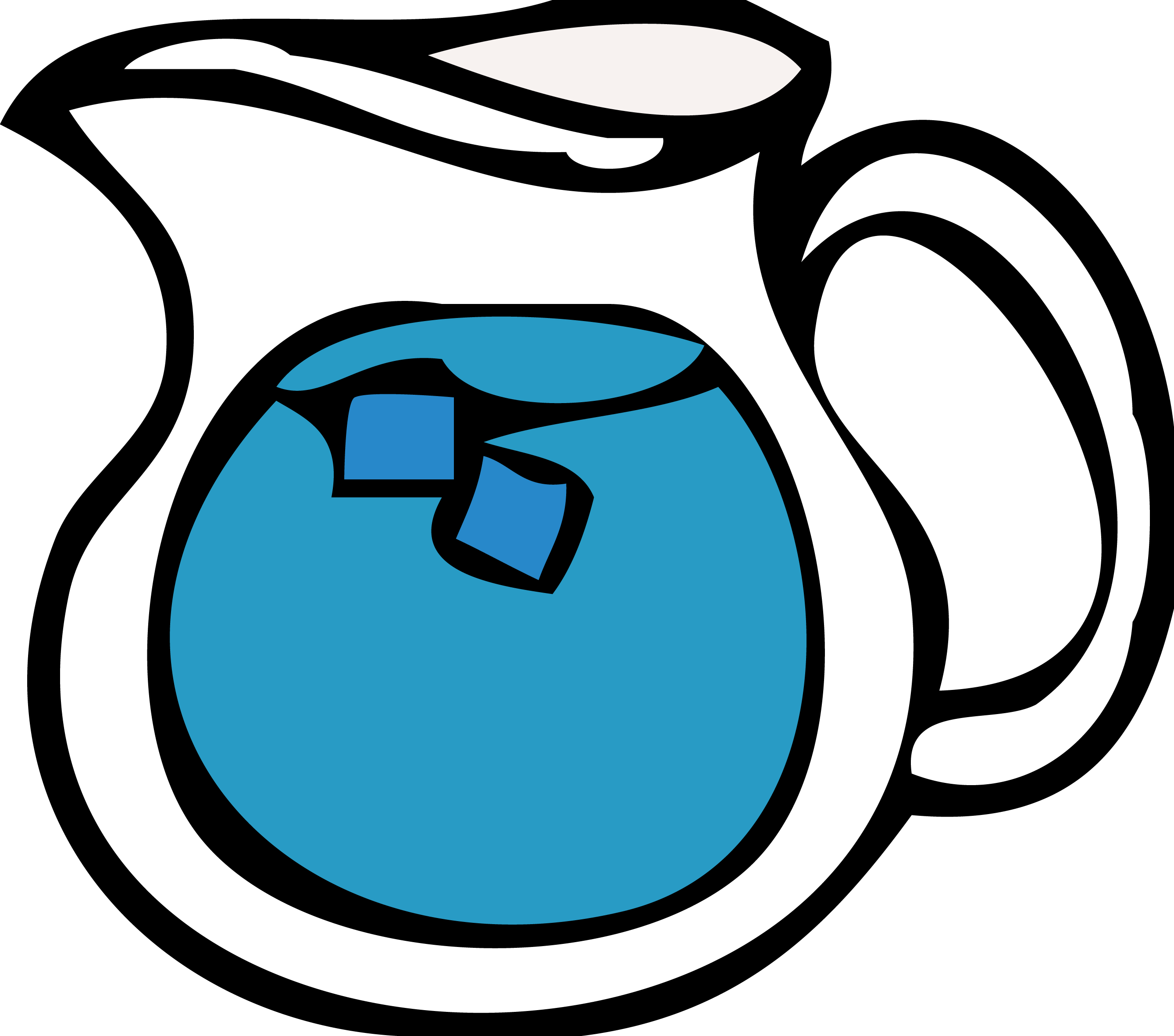 Cartoon glass cooled kettle. Cup clipart ice water