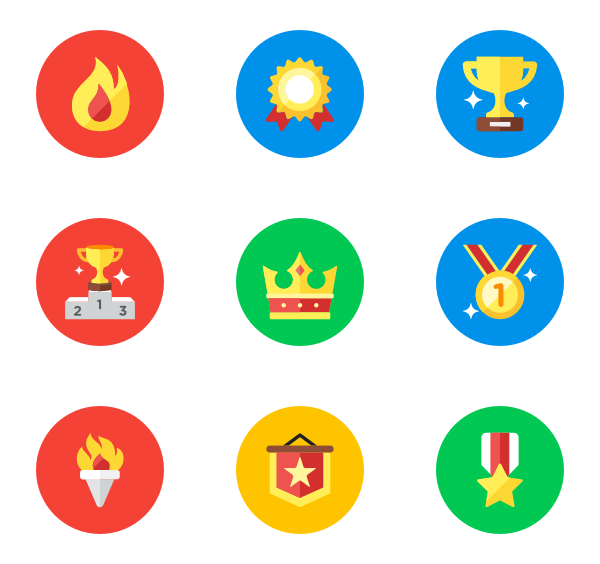 Winner icons free vector. Cup clipart icon