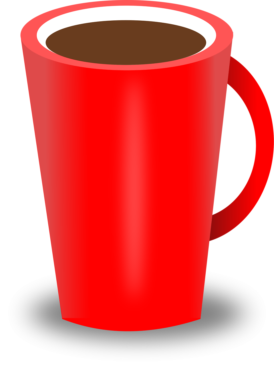 Free stock photo illustration. Coffee clipart woman