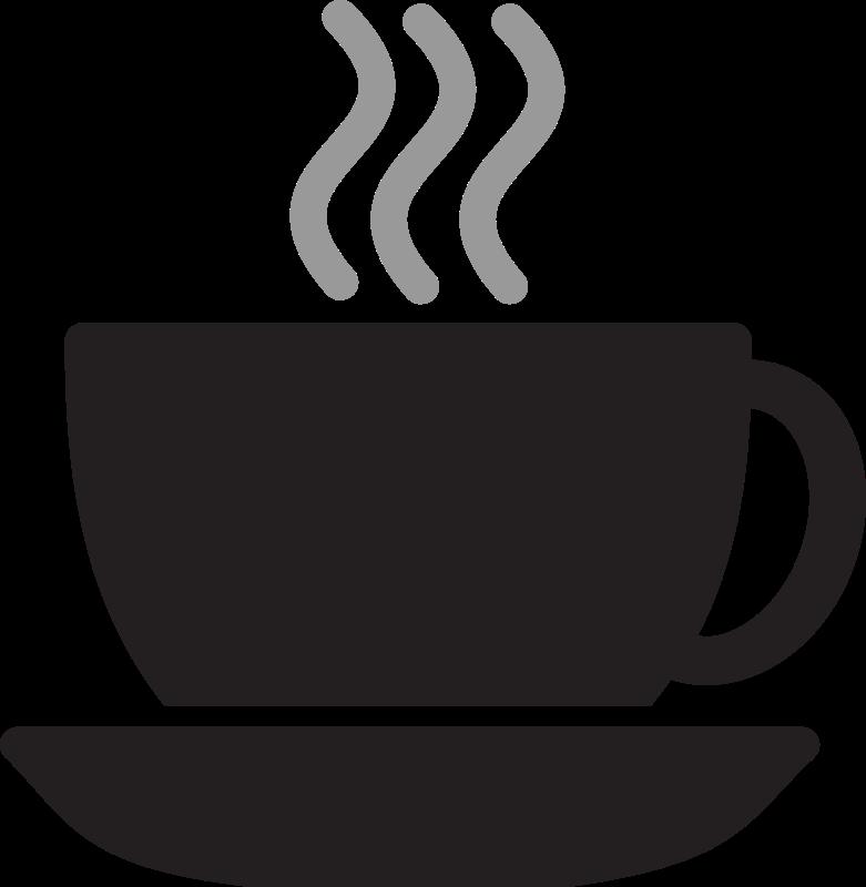 Kitchen icon coffee cup. Mug clipart steam clipart