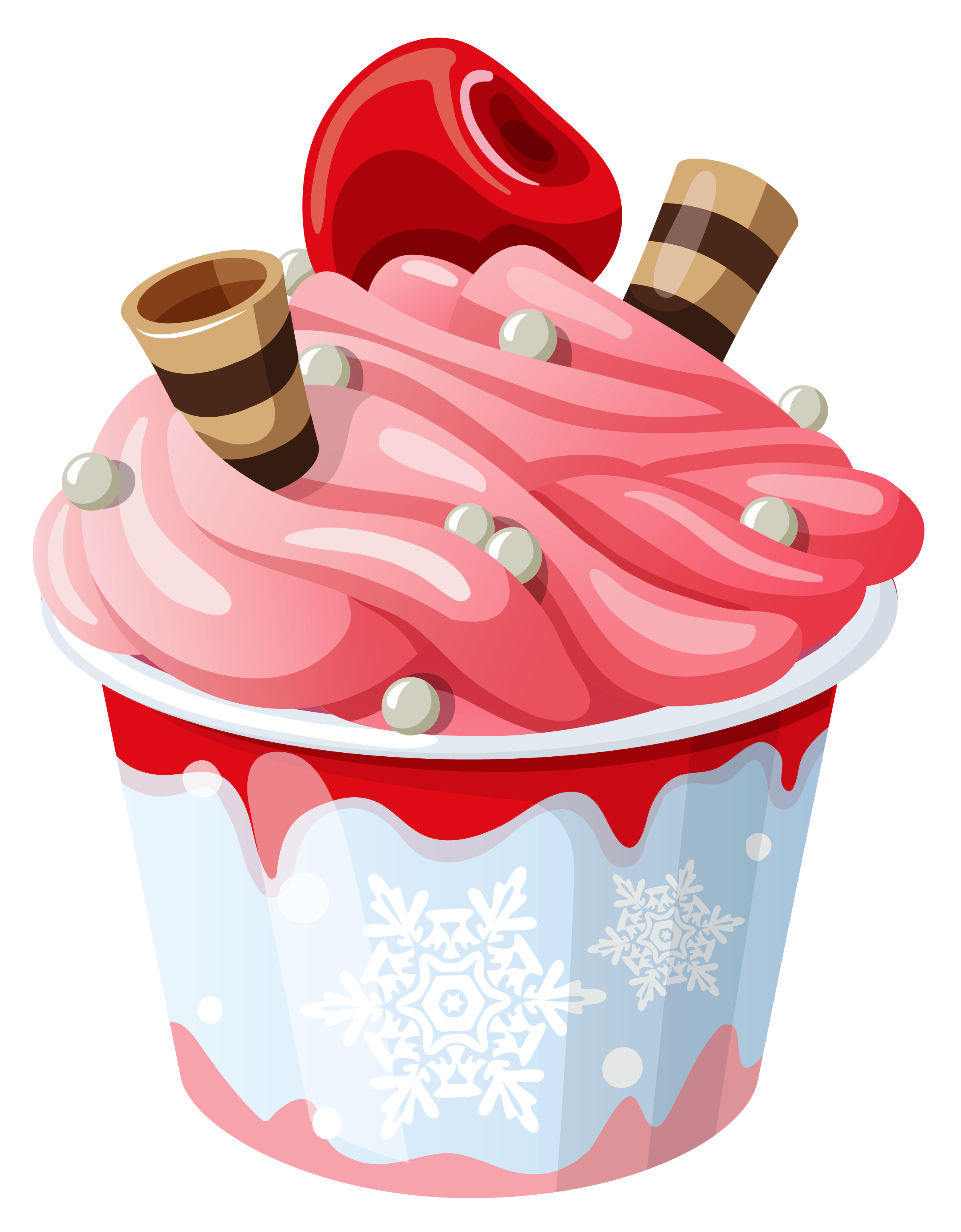 Icecream clipart bowl. Cup pencil and in