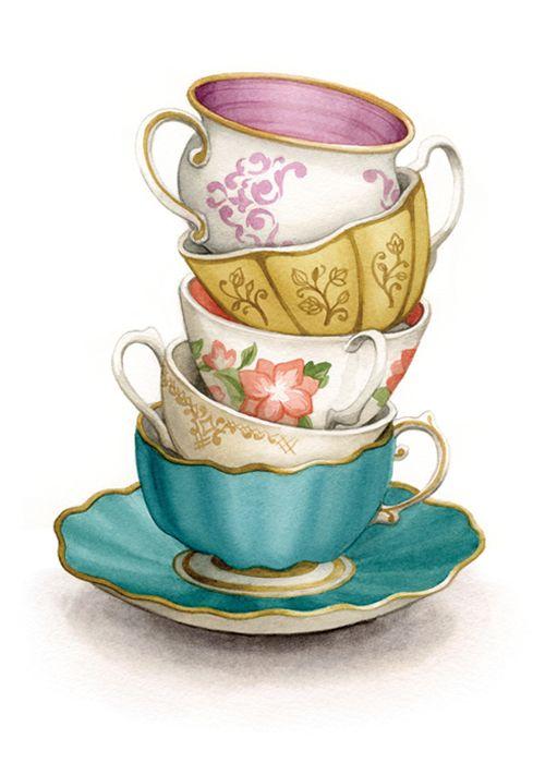Teacup stack png transparency. Tea clipart teaset