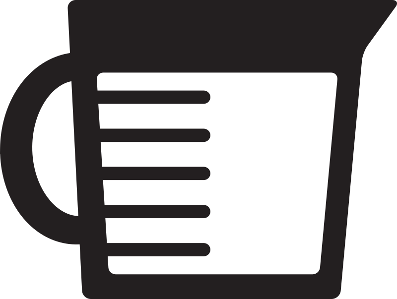 Kitchen icon measuring medium. Cup clipart mesuring