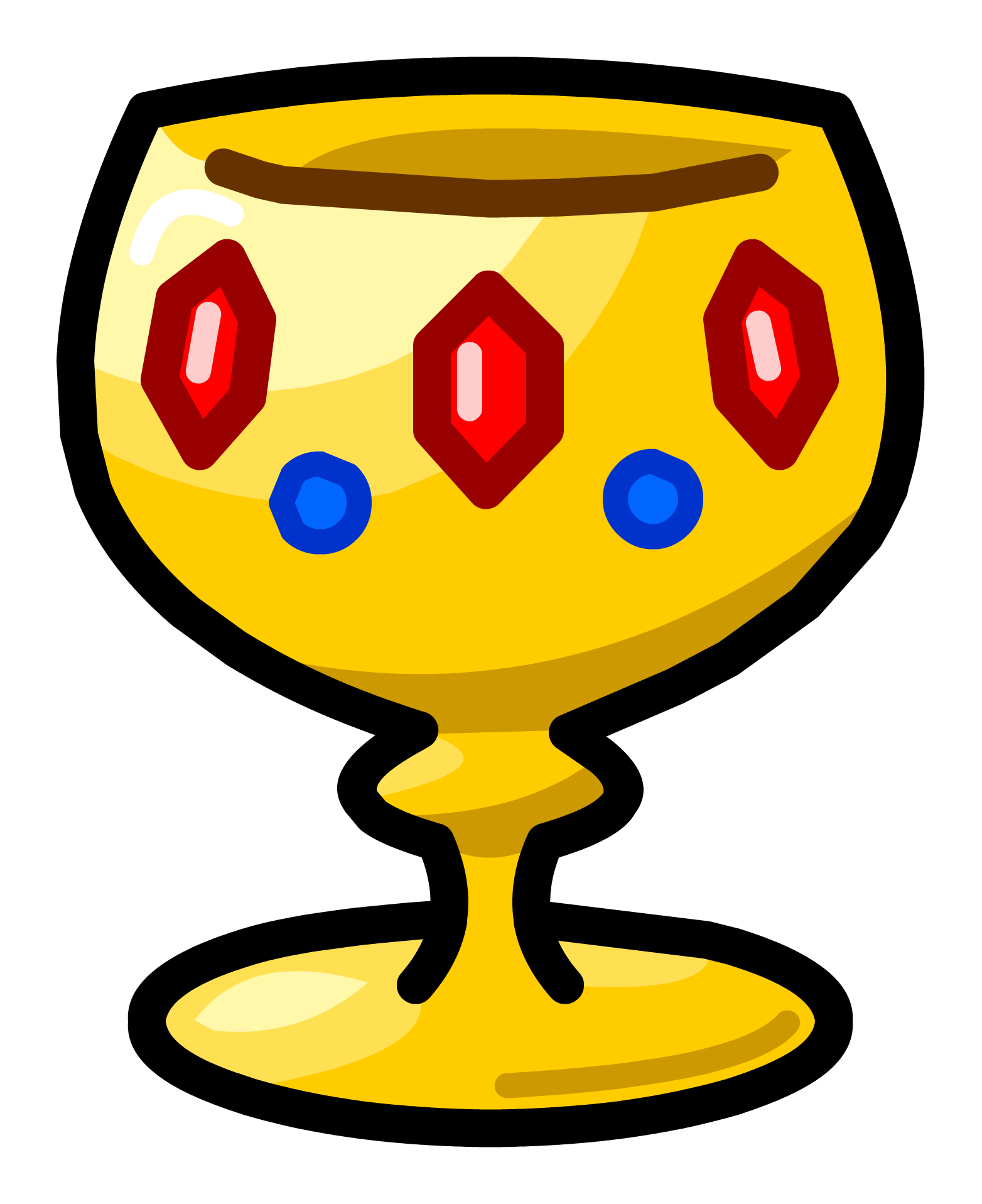 Goblet pencil and in. Cup clipart medieval