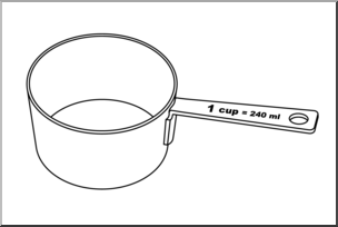 Clip art measuring cups. Cup clipart mesuring