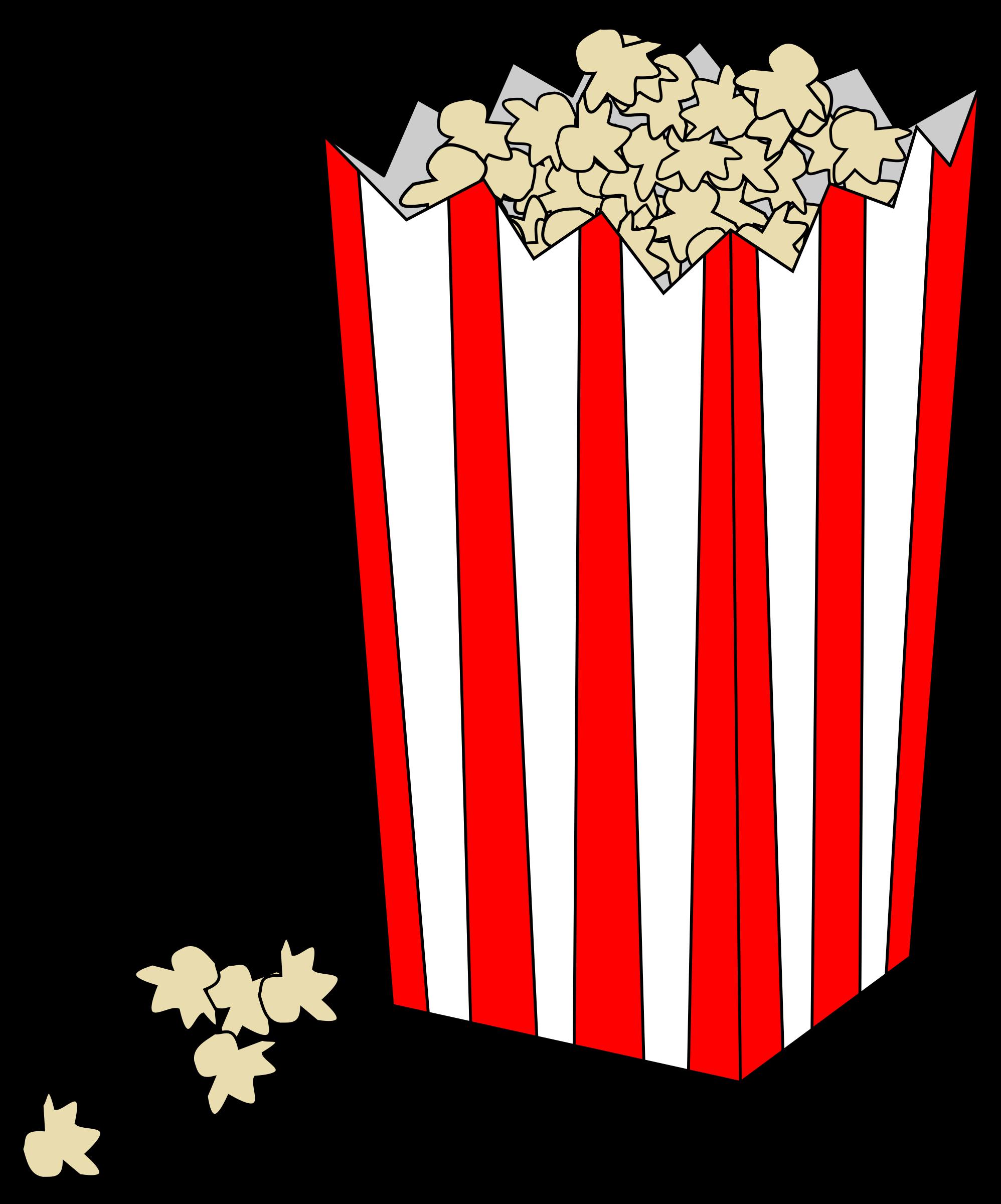 Clipart explosion popcorn. Movie bag big image