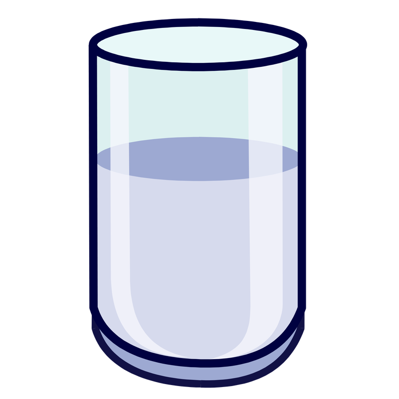 collection of glass. Clipart milk half cup