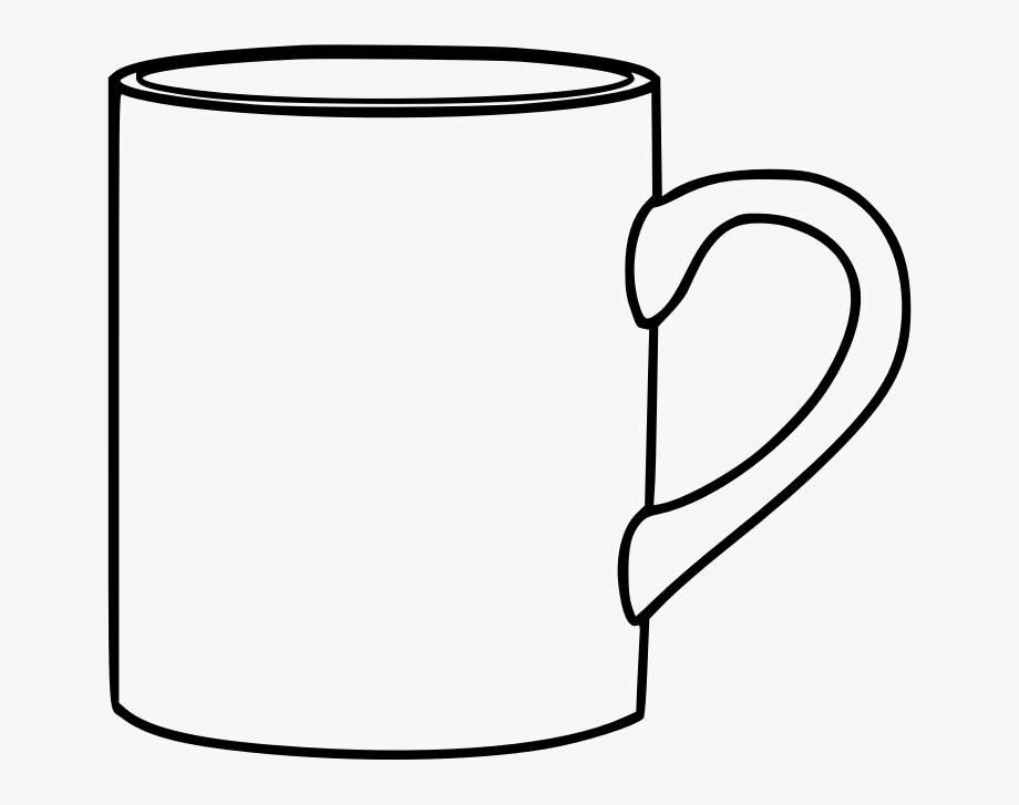 This png file is. Mug clipart mug outline