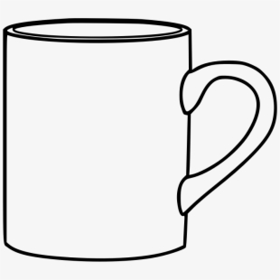 This png file is. Cup clipart outline