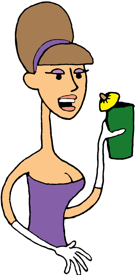 Lady with drink transparent. Exercise clipart kawaii