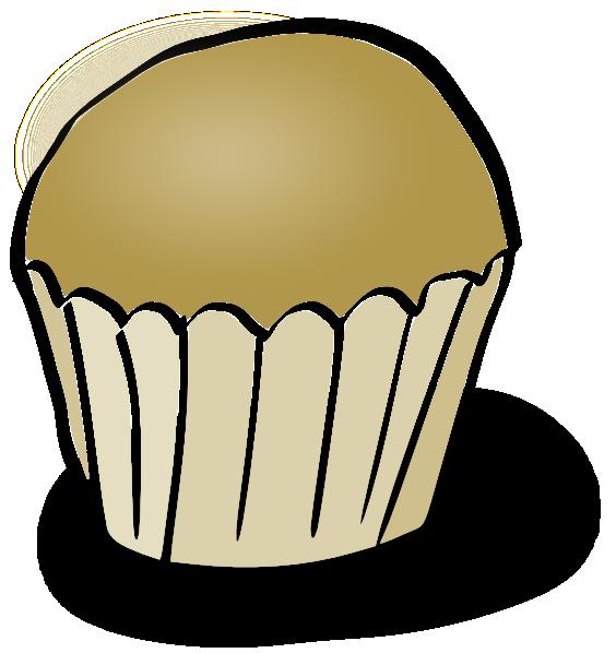 Plain clip art at. Desserts clipart vanilla cupcake