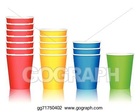 Vector stock plastic illustration. Cups clipart cheap