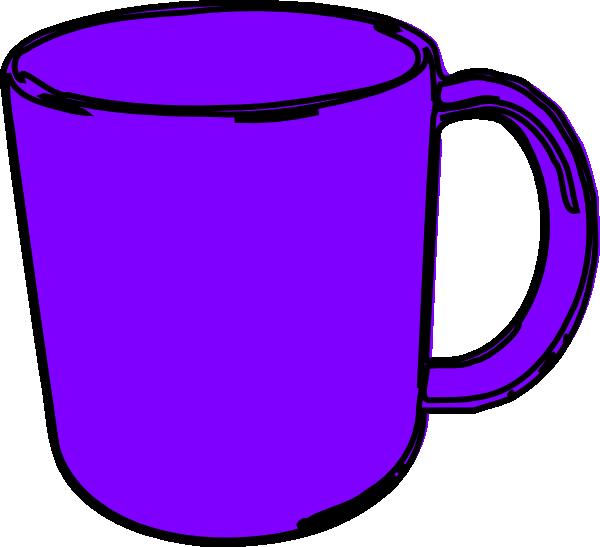 Clip art mug vector. Cups clipart purple cup