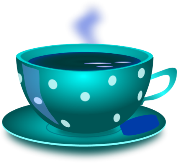Cup of cerca con. Tea clipart steaming bowl