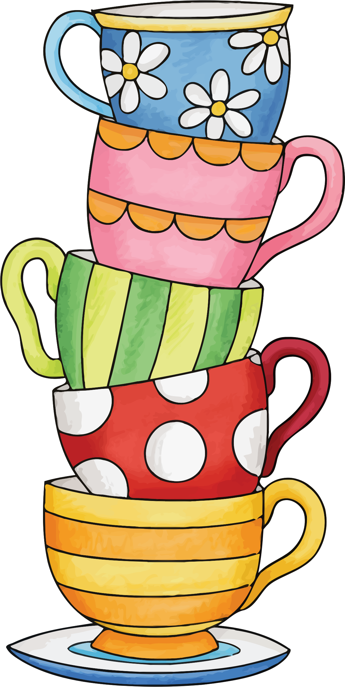 Of cups big image. Clipart homework stack