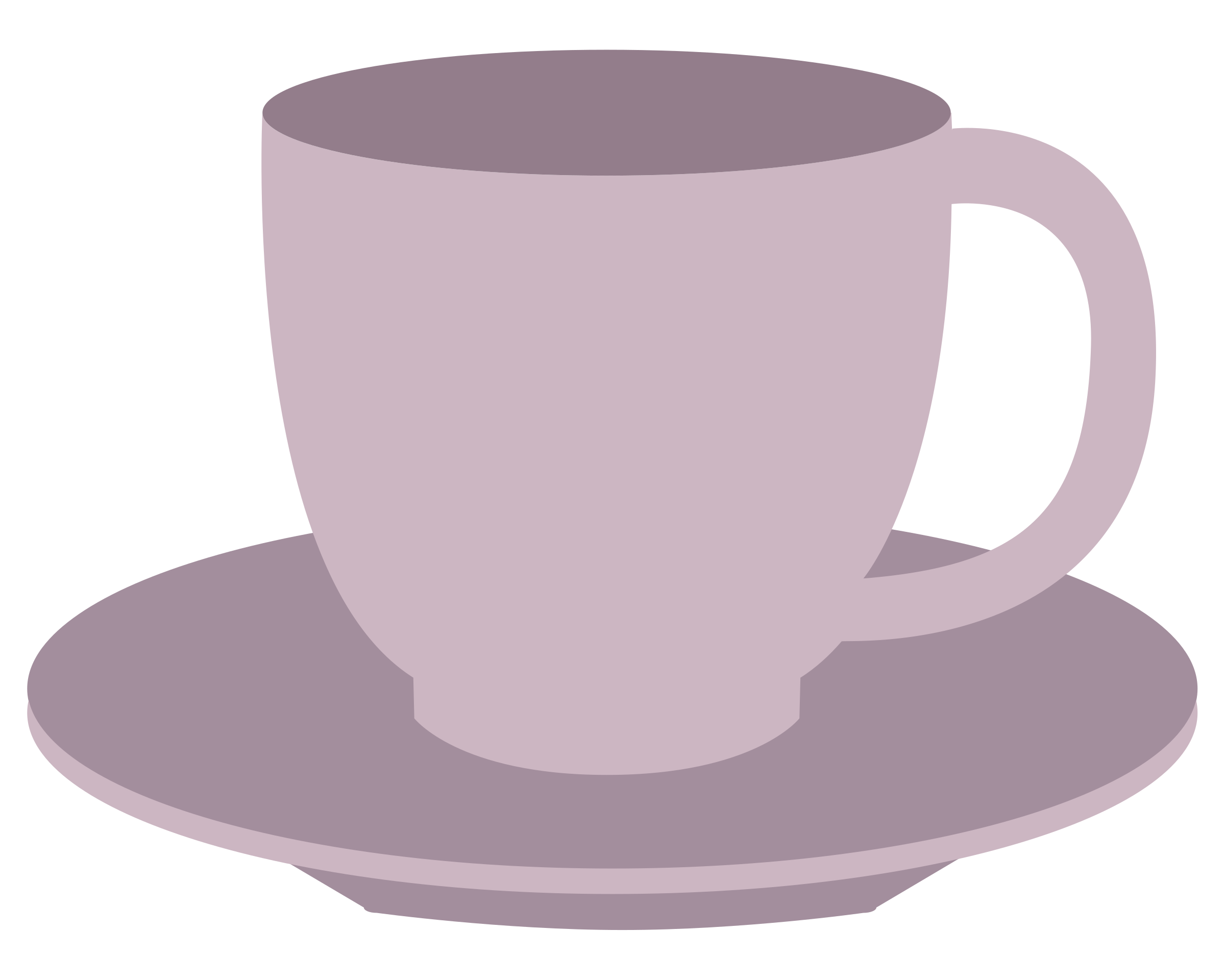 Teacup and saucer big. Cups clipart purple cup