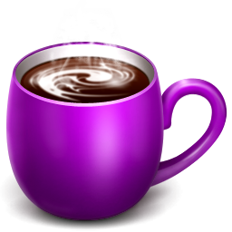 Coffee . Cups clipart purple cup