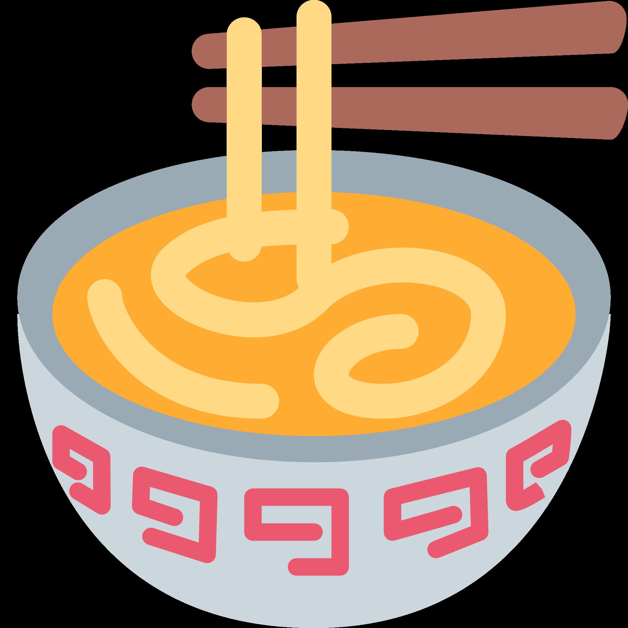 Sticker timeline steaming bowl. Kawaii clipart ramen