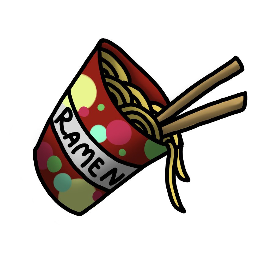 Ramen cup by why. Noodles clipart noddles